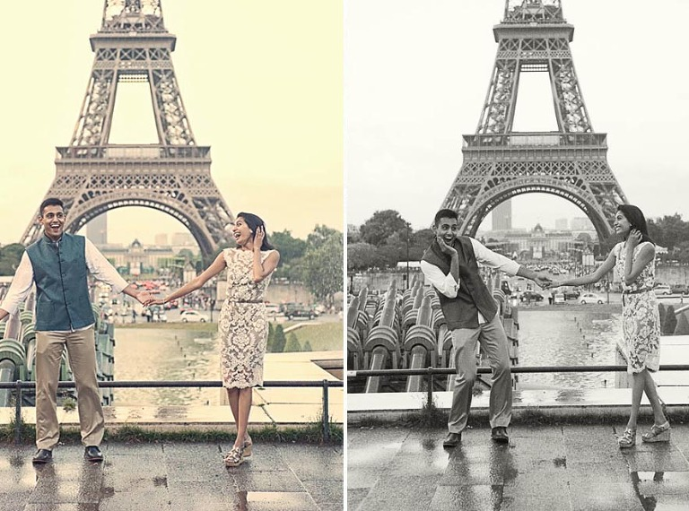 Engagement photo session in Paris with weddinglight photography