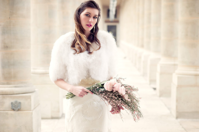 Bridal photo shoot une fleur en liberté Paris