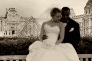 the Louvres Paris destination wedding photography