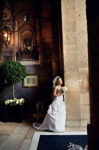 paris bridal portrait
