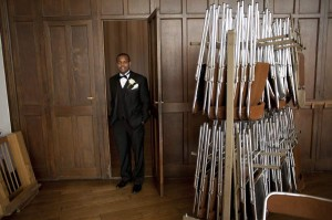 American church ceremony getting ready groom Paris