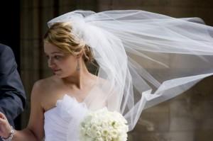 bride at the american church Paris France