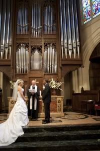 American church ceremony Paris