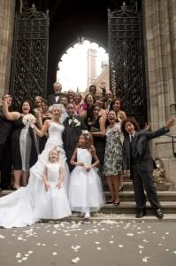 destination wedding in Paris American church