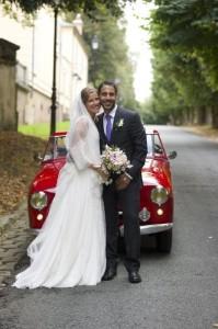 Paris wedding photography classic car