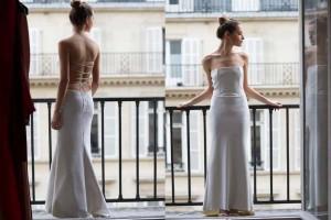 Paris photo session rent a wedding gown