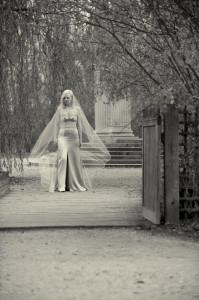 bride portrait versailles castle