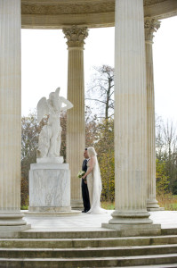 versailles garden ceremony wedding