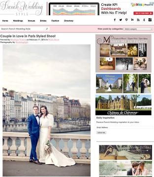Parisian wedding celebration