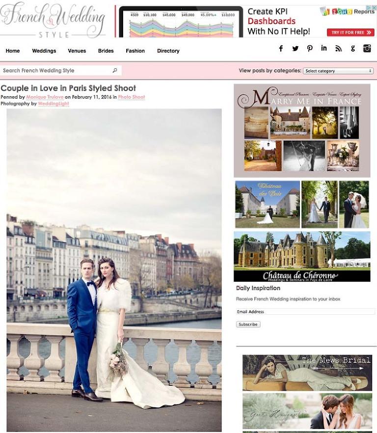 Parisian wedding celebration photographer