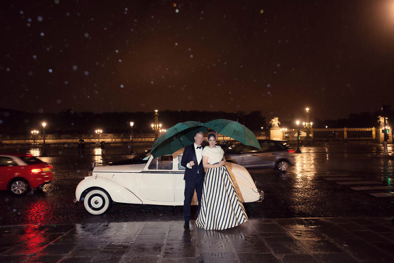paris elopement in the rain