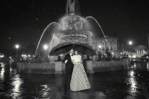 paris elopement in the rain photographer