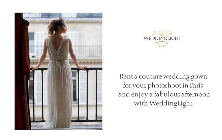 Paris rent a wedding gown