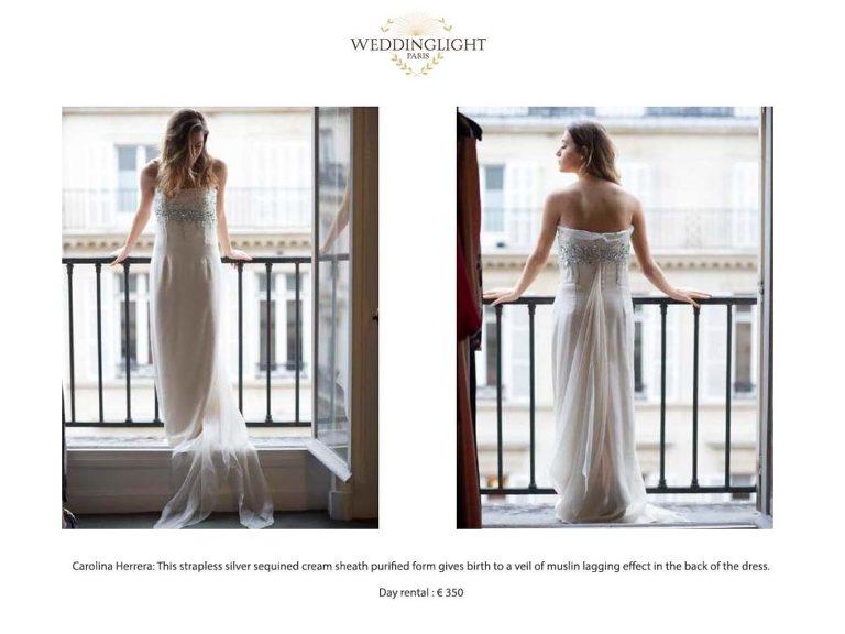 Paris rent your wedding dress