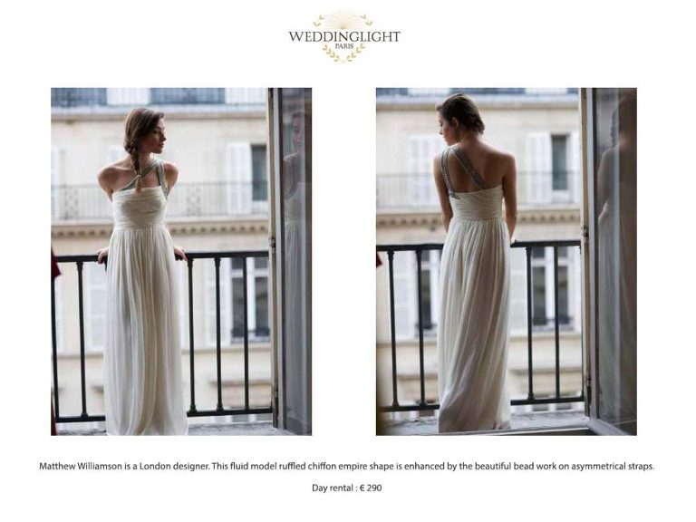 Paris rent your wedding dress