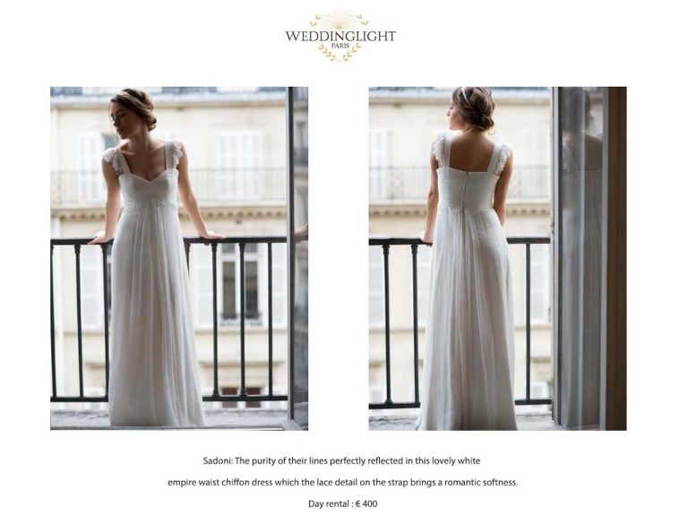Paris rent a wedding dress