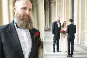 Paris romantic wedding
