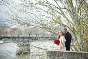 Paris romantic wedding seine river